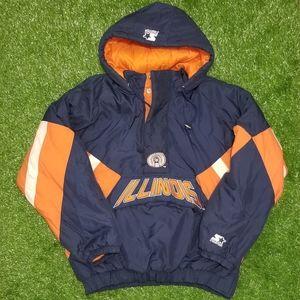 Vintage 90s Starter University of Illinois Jacket